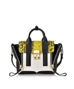 3.1 Phillip Lim | Pashli Python Print And Colorblock Leather Mini Satchel Bag