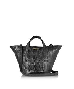 meli melo | Woven Leather Rosalia Mini Cross Body Bag