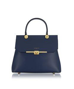 Le Parmentier | Atlanta Leather Top Handle Satchel Bag W/Shoulder Strap