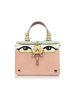 GIANCARLO PETRIGLIA | Powder Leather Mini Peggy Eyes Satchel Bag