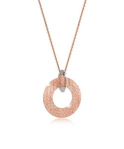 Rebecca | R-Zero Rose Over Bronze And Steel Long Necklace