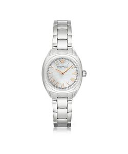Emporio Armani | Stainless Steel Womens Watch W/Rose Pvd Roman Numbers