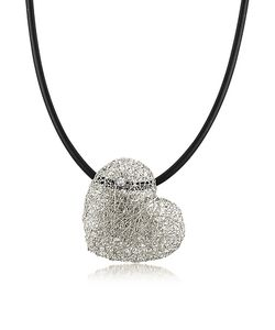 Orlando Orlandini | Woven Heart Pendant Necklace W/Diamond