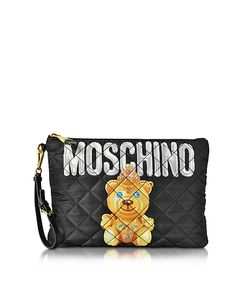 Moschino | Teddy Bear Quilted Nylon Clutch