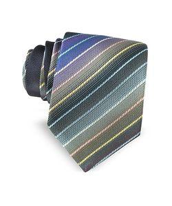 Missoni | Diagonal Striped Woven Silk Narrow Tie
