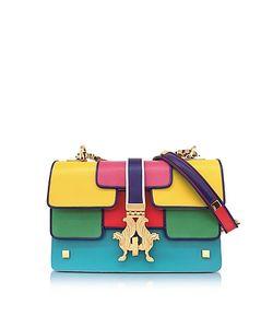 GIANCARLO PETRIGLIA | Summer P Bag Color Block Leather Shoulder Bag