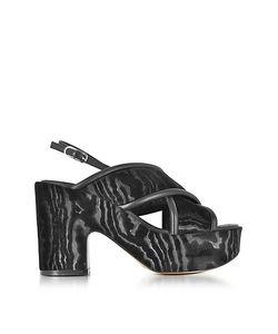 Robert Clergerie | Emelinet Velvet Wedge Sandals