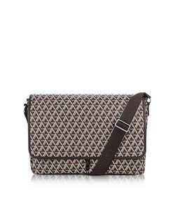 LANCASTER PARIS | Ikon Coated Canvas Messenger Bag