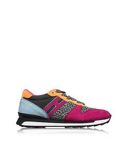 Hogan | R261 Fabric And Suede Sneakers