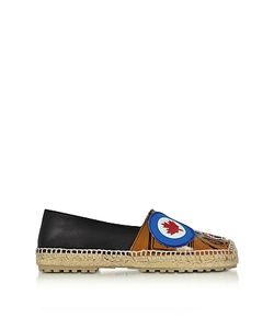 Dsquared2 | Hackney And Nappa Leather Flat Espadrilles W/Patches
