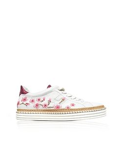 Hogan | R260 Embroidered Leather Sneakers