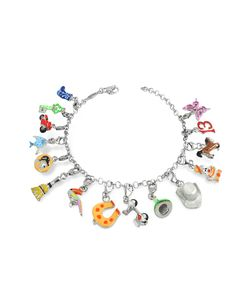 Tedora   Браслет Из Серебра 925 Пробы С Разноцветными Чармами