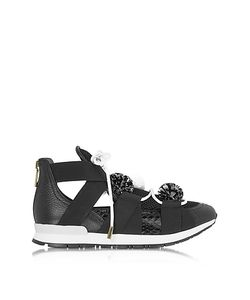 Vionnet | Leather And Elaphã Pon Pon Sneakers