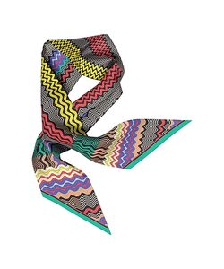 Missoni | Digital Waves Printed Silk Necktie Scarf