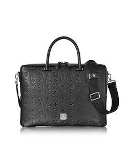 MCM   Otto Monogram Leather Medium Briefcase
