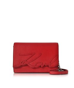 Karl Lagerfeld | K/Signature Saffiano Leather Shoulder Bag