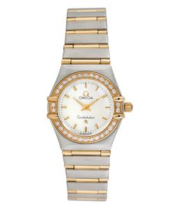 OMEGA | Vintage Constellation 18k Stainless Steel Diamond Watch