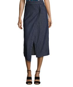 VEDA | Ray Cotton Front Wrap Midi Skirt