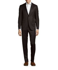 Canali | Pinstripe Wool Jacket Pants Suit