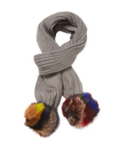 JOCELYN | Knitted Fox Fur Scarf