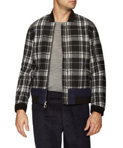 TIMO WEILAND | Duncan Checkered Bomber Jacket