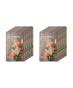 The Face Shop | Real Nature Calendula Face Mask Moisturizing Set 10 Pc