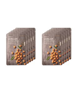 The Face Shop | Real Nature Longan Face Mask Anti-Aging Set 10 Pc