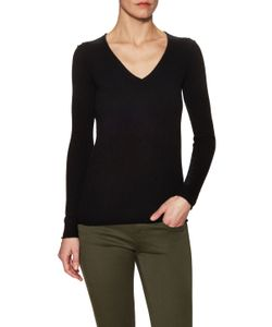 Tess Giberson | Cashmere V-Neck Sweater With Seaming Details