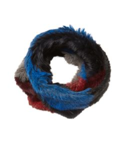 JOCELYN | Rabbit Fur Patchwork Infinity Scarf