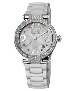 Burgi | Womens Mother Of Pearl Crystal Watch
