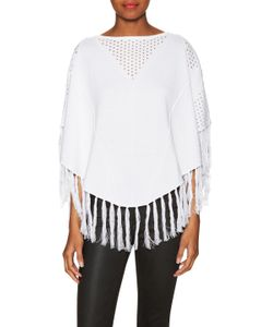 One Grey Day | Avery Cotton Fringe Trim Top