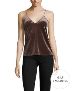 Lucca Couture | Velvet V-Neck Top