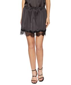 Lucca Couture | Charmeuse Lace Trim Skirt