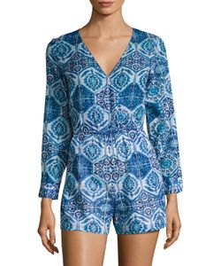 KAS | Athena Cotton Printed Romper