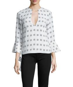 C/meo Collective's | Spelt Out Print Gathered Side Top