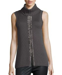 Ramy Brook | Leah Embellished Merino Wool Sweater