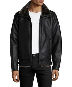 Karl Lagerfeld | Zip Buckle Faux Fur Jacket