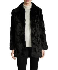 Adrienne Landau | Fur Spread Collar Coat