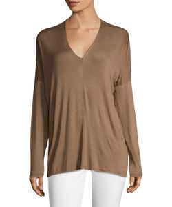 Project Social T | Cape Boxy V-Neck Top