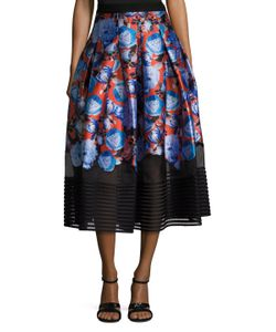 Sachin + Babi | Aster Print Inverted Pleat A Line Skirt