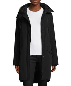Soia & Kyo | Hooded Veda Faux Fur Trimmed Coat