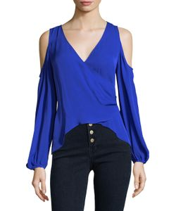 Nicole Miller | Coco Wrap Cold Shoulder Top