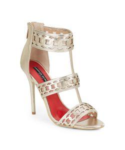 Charles Jourdan | Layton Leather Mesh Strappy Sandals