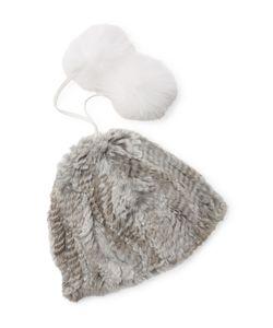 Adrienne Landau | Rabbit Fur Hat