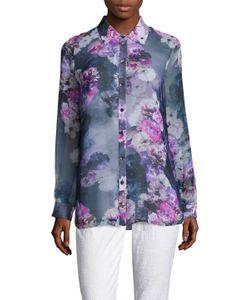 Magaschoni | Silk Chiffon Shirttail Tunic