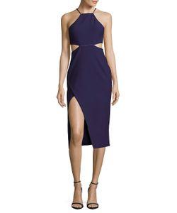 Cinq A Sept | Solid Halter Cutout Dress