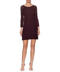 Shoshanna   Wool Pleated Flare Dress
