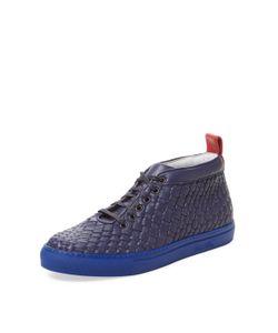 Del Toro | Intrecciato Leather Medio Chukka Sneaker