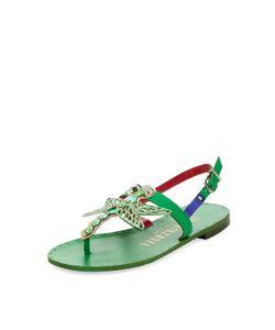IVY KIRZHNER   Dragon Leather Low Heel Sandal