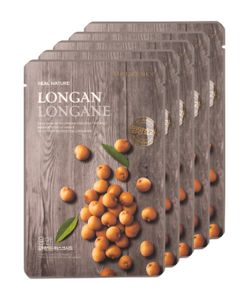The Face Shop | Real Nature Longan Face Mask Anti-Aging 5 Pk
